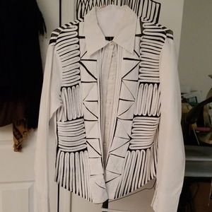Obstinee Black and white abstract shirt